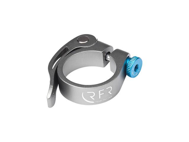 Cube RFR attache de selle   - Collier de selle - 34,9 mm avec dispositif de fixation rapide argent
